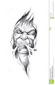 Demon Jesus Tattoo Inside Sketch Of Art Christ Stock Photo