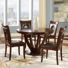 Round Dining Room Set For 4 by Homesullivan 5 Piece Antique White And Cherry Dining Set 401393w