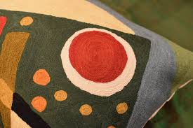Red Decorative Lumbar Pillows by Lumbar Kandinsky Throw Pillow Composition Vii Green Hand
