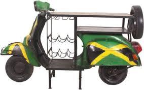 sit stehtisch aus einem recyceltem roller 170x66x105cm grün kombi