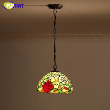 fumat l shade pendant l european style stained glass