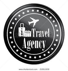 Circle Black Metallic Style Travel Agency Icon Label Button Or Sticker Isolated On White
