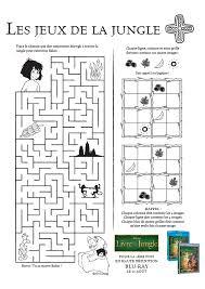 jeux de cuisine jeux de la jungle activités jeu de labyrinthe dans le livre de la jungle