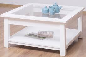 casa padrino landhausstil couchtisch mit glasplatte weiß 90 x 90 x h 45 cm massivholz wohnzimmertisch wohnzimmermöbel im landhausstil