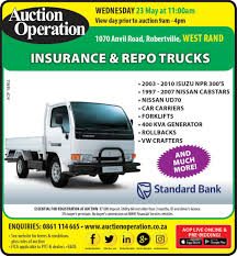 Auction Operation - INSURANCE & REPO TRUCKS - WEST RAND Trucks Repossed Equipment For Sale By Cssroads Bank Repo Fleet Vehicle Auction Commercial Siezed Vehicles Government Surplus Consignment Aucti For High Volume Of Gta 5 The Hard Life Part 6 Going To Work As A Tow Truck Driver Trucking Cstruction Youtube Diesel Daily Driver Repo Truck Diesel Bombers Operation Wesbank Repos West Rand