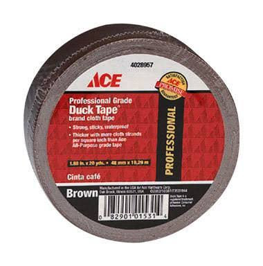 Ace Professional Grade Duck Tape - Brown, 48mm x18.28m