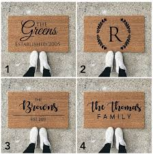 Personalized Doormat 25 Unique Personalized Door Mats Ideas