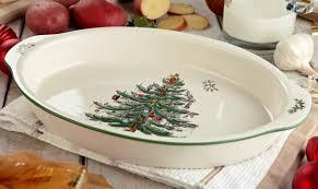 Spode Christmas Tree Platter by Spode Christmas Tree Gratin Dish Spode Uk