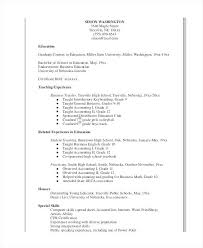 Format Of Resume For Teacher Preschool Template