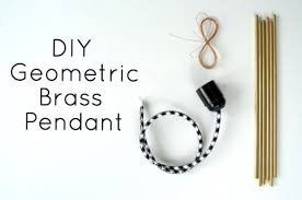 DIY Geometric Brass Pendant