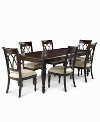 bradford 7 piece dining room furniture set table 6 side chairs