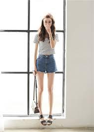 2015 Street Wear Blue Button Slim Denim Korean Summer Jean