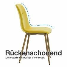esszimmerstuhl zwei pro paket gelb o grau stuhl