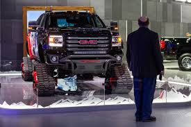 The 2018 Detroit Auto Show In Pictures - The Verge Canam 6x6 On Tracks Atvs Pinterest Atv Vehicle And Offroad Tank Tracks For Pickup Trucks Treads Truck Tractor Tires V Page 2 Scale 44 Rc Forums With Regard To Halftrack Wikipedia Hot Wheels Monster Jam 164 Styles May Vary Its A Birdits Planeits Blownalcohol Rod Powertrack Jeep 4x4 Manufacturer Learn More Grip Step Running Boards What You Need To Know Before Tow Choosing The Right Tires For Turn Your 2wd Into Badass Overland Pro Mud