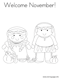 Welcome November Coloring Pages