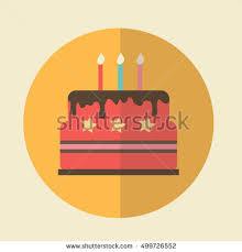Birthday Cake Illustration Flat Icon Vector birthday cake icon Birthday cake with candles