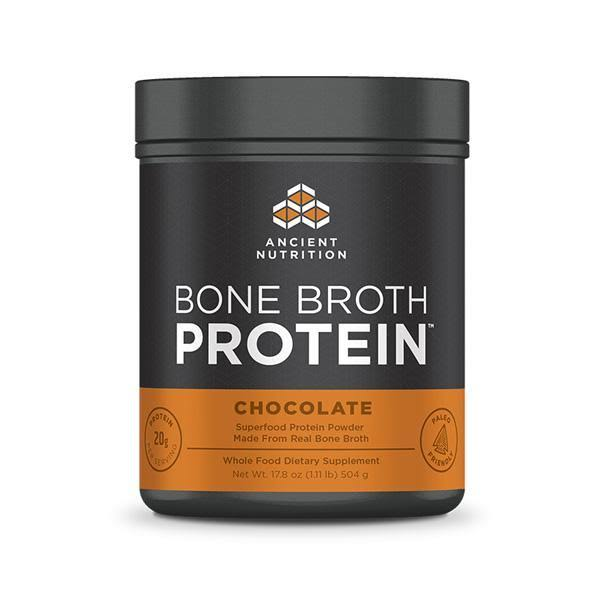 Ancient Nutrition Bone Broth Protein - Chocolate, 504g
