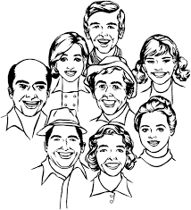Colouring Picture Family Big Members Pages