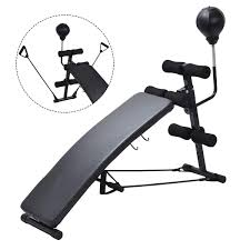 Goplus Adjustable Folding Sit Up AB Incline Abs Bench Flat Fly