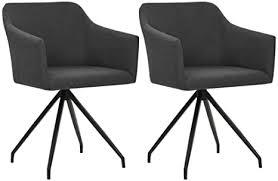 tidyard 2er set esszimmerstuhl drehbar küchenstuhl armlehnstuhl polsterstuhl mit armlehen wohnzimmerstuhl esszimmer sessel stuhl dunkelgrau stoff