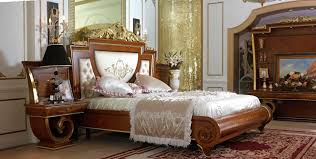 Pretty Red Oriental Rug Paired with Wooden Bedroom Furniture