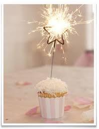 Wish Upon the Stars ✯ star sparkler cupcake