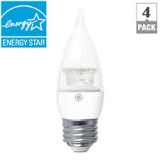 ge 40w equivalent soft white clear ca11 bent tip medium base led