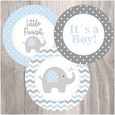 SELF EDITABLE Baby Shower Bag Toppers Elephant Treat Bag Toppers Printable Favor Bag Toppers Baby Boy Blue Goodie Toppers DIY Candy Bags
