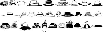 Kentucky Derby Hats Clipart