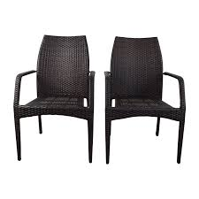 85% OFF - Dark Brown Wicker Outdoor Dining Chairs / Chairs Decor Market Siesta Wicker Side Chairs Black Finish Hk Living Rattan Ding Chair Black Petite Lily Interiors Safavieh Honey Chair Set Of 2 Fox6000a Europa Malaga Steel Ding Pack Of Monte Carlo For 4 Hampton Bay Mix And Match Stackable Outdoor In Home Decators Collection Genie Grey Kubu 2x Cooma Fnitureokay Artiss Pe Bah3927bkx2 Bloomingville Lena Gray Caline Breeze Finnish Design Shop Portside 5pc Chairs 48 Table