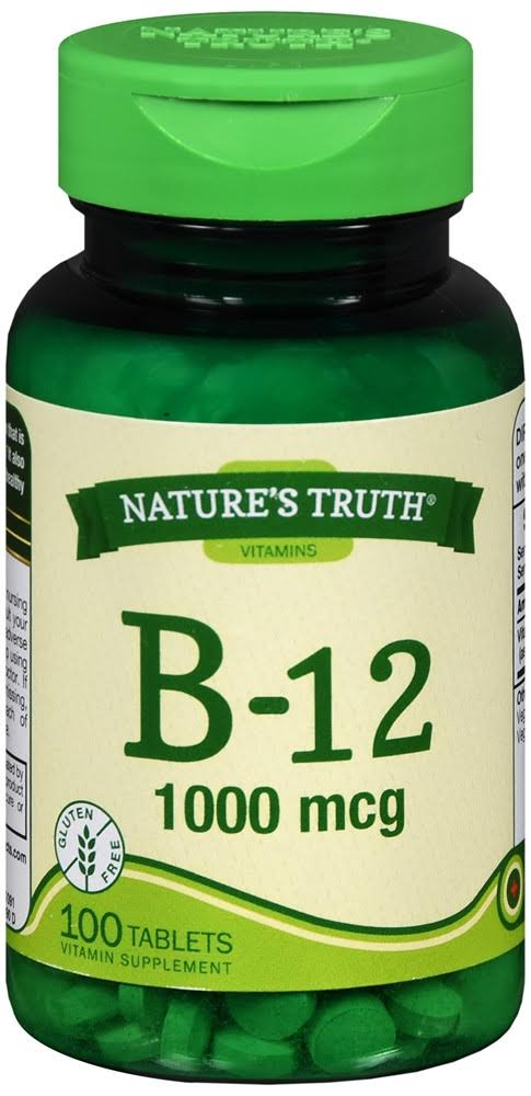 Nature's Truth B-12 Tablets, 1000 mcg, 100 Count