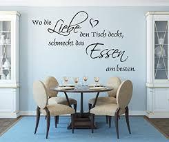 xl wandtattoo für ihre küche esszimmer 68037 100x58 cm wo die liebe den tisch deckt schmeckt das essen am besten wandaufkleber aufkleber für