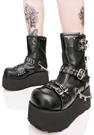 vegan goth boots i want it black