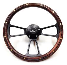 100 1977 Ford Truck Parts 1970 FSeries Steering Wheel Real Wood Horn
