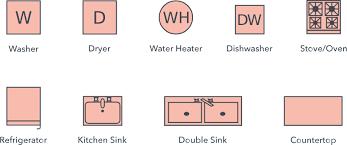 symbole cuisine symboles des plans de niveau lucidchart