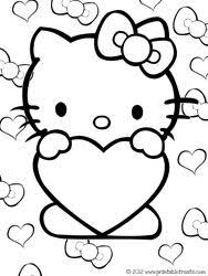 This Cute Set Of Hello Kitty Valentines Coloring Pages Is A Perfect Addition To Your Childs Day Festivities Print And Color Them For Fun Or