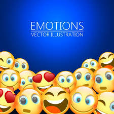 Modern Yellow Laughing Three Emoji Emotions Background Vector