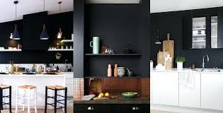 cuisine blanche mur taupe un mur noir dans la cuisine les brindilles inspirations dacco