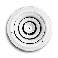 Round Ceiling Air Vent Deflector by Truaire 10 In Round Diffuser H800 10 The Home Depot