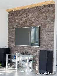 tv wand mit steinverblender ohne sichtbare kabel bauen
