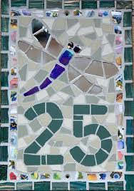 no 25 dragonfly unglazed ceramic and vitreous glass tiles