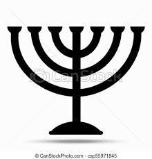 Menorah Symbol Of Judaism Illustration Isolated On White Background