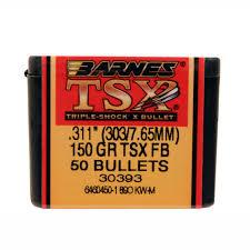 Barnes Bullets 31115 303/7.65mm .311
