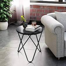 homycasa runder tisch aus gehärtetem glas beistelltisch sofa tisch couchtisch mit haarnadel beinen für wohnzimmer schwarz temperiertes glas
