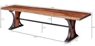 esszimmerbank banur 178x45x49 cm sheesham massivholz bank baumkante sitzbank holzbank ohne lehne küchenbank essbank holz industrial baumstamm