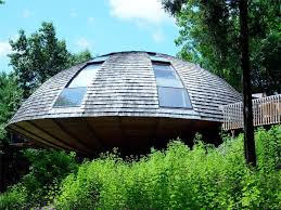 Home Designs: Round Dome House - Flying Saucer Shaped House Takes ... Monolithic Dome Home Plans Information On Energy Efficient Magical Blue Forest Treehouse Is A Fairytale Castle For Your Circular Garden Lkway Cuts Straight Through Japanese Timber Home Romantic Moroccan Ding Room Design With Wooden Round Table Unique And Compelling Windows Every Horrible Designs Security Doors Installation Fniture Modern House Alongside Oak Wood Double Swing Tuscaninspired Library Comes Full Circle A In Interior More Than Homes Mandala Prefab Energy Star Cliff Living Ideas Shape Best 25 House Plans Ideas Pinterest Cob