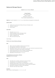 Restaurant Manager Cover Letter Sample Resume Example Luxury