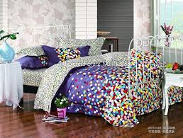 brand new colorful polka dots pattern purple background queen