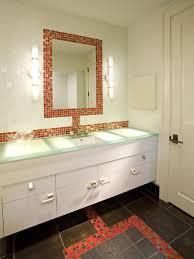 Brown Mosaic Bathroom Mirror by Backsplash Ideas Astounding Mirror Mosaic Tile Backsplash Mirror