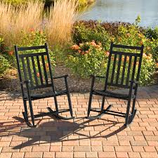 100 Hinkle Southern Rocking Chairs Dixie Seating IndoorOutdoor Slat Black Black High